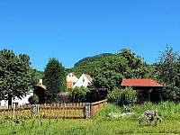 Zahrada u vinice - pronájem chalupy Liběšice - Horní Chobolice