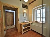 horní koupelna - chalupa k pronájmu Velká Javorská