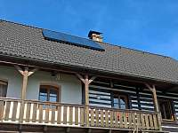 Balkon v 1. p. - chalupa k pronajmutí Stvolínky - Kolné