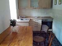 kuchyně - chalupa ubytování Merboltice