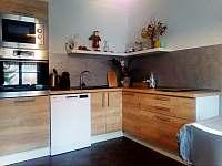 Kuchyně a obývací pokoj - apartmán ubytování Velemín - Oparno
