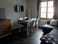 Kuchyně a obývací pokoj - apartmán k pronájmu Velemín - Oparno