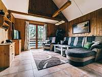 obývací pokoj - chata k pronajmutí Kyjov u Krásné Lípy