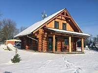 Srub Horní Podluží v zimě - ubytování Horní Podluží