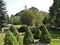 výhled na Tolštejn - chalupa ubytování Jiřetína pod Jedlovou