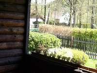 Výhled z verandy, krásné posezení i ze deště