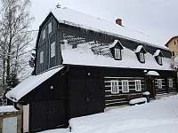 Chalupa v zimě - Mezná u Hřenska