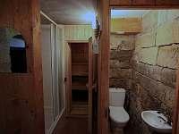 Sauna a sprchový kout + WC - Mezná u Hřenska