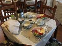 servírované snídaně - ubytování Tisá