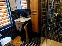 Koupelna s vytápěnou podlahou - pronájem chalupy Horní Podluží - Světlík