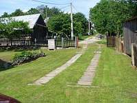 příjezdová cesta - chata ubytování Mikulášovice