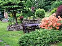 pohled na zahradu - chata ubytování Růžová