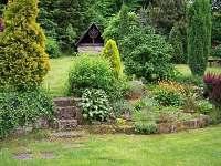 zahrada - pronájem chaty Růžová