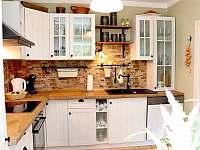 Kuchyně - chalupa ubytování Krásná Lípa - Dlouhý Důl