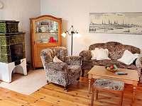 Obývák 25 m2 - pronájem chalupy Krásná Lípa - Dlouhý Důl