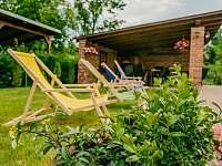 Zahrada s bazénem a posezenim - Krásná Lípa