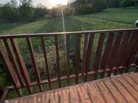 vyhled z balkonu loznice - chata ubytování Nové Hraběcí