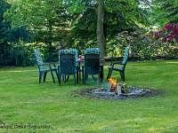 Zahrada - chalupa ubytování Krásná Lípa