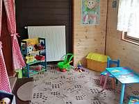Hrací koutek pro děti - chata ubytování Krásná Lípa - Kyjov