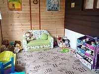 Hrací koutek pro děti - chata k pronájmu Krásná Lípa - Kyjov