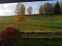 Pohled z chaty podzim