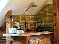 Podkrovní apartmán - kuchyň - pronájem Krásná Lípa