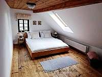 Podkrovní apartmán - ložnice č.1 - pronájem Krásná Lípa