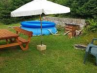 Sezónní bazén - pronájem chaty Jetřichovice