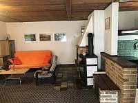 Obývací pokoj - chata ubytování Růžová