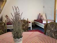 červený pokoj v patře - Krásný Buk