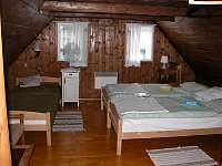 ložnice v podkroví pohled od dveří