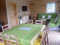 Obývací místnost - chata ubytování Rynartice
