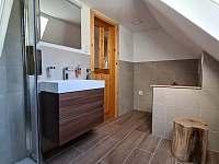 Horní koupelna - pronájem chalupy Chřibská