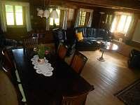 obývací pokoj - pronájem chalupy Dolni Chřibska