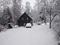 Chalupa Poustevník v zimě - Horni Poustevna