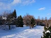 Zahrada v zimě - Vlčí Hora - Krásná Lípa