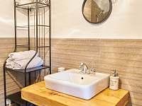 koupelna v přízemí - chalupa k pronájmu Dolní Chřibská