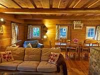 obývací část - pronájem chalupy Dolní Chřibská
