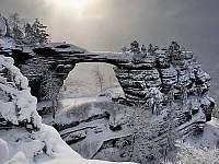 Pravčická brána v zimě - Dolní Chřibská