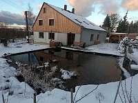 V zimě - chalupa k pronajmutí Krásná Lípa - Kamenná Horka
