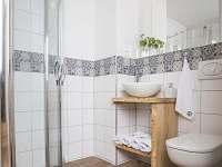 vlastní koupelna v apartmánu - chalupa ubytování Krásná Lípa - Kamenná Horka