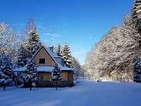 Chata Michael v zimě - ubytování Dolní Podluží
