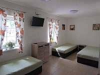 Apartmán přízemí - Obývací prostor se třemi lůžky a vlastní TV