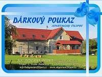 Dárkové poukazy na týden/víkend v prodeji - apartmán k pronájmu Česká Kamenice - Filipov