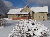 Objekt v zimě - pronájem apartmánu Česká Kamenice - Filipov