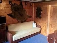 Rozkládací gauč ve společenské místnosti - chata ubytování Všemily