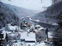 obec v zimě