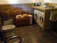 koupelna - chalupa k pronajmutí Jetřichovice