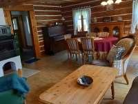 obývací místnost - chalupa k pronajmutí Jetřichovice