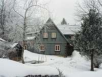 Zvoneček v zimě - chata k pronajmutí Jiřetín pod Jedlovou